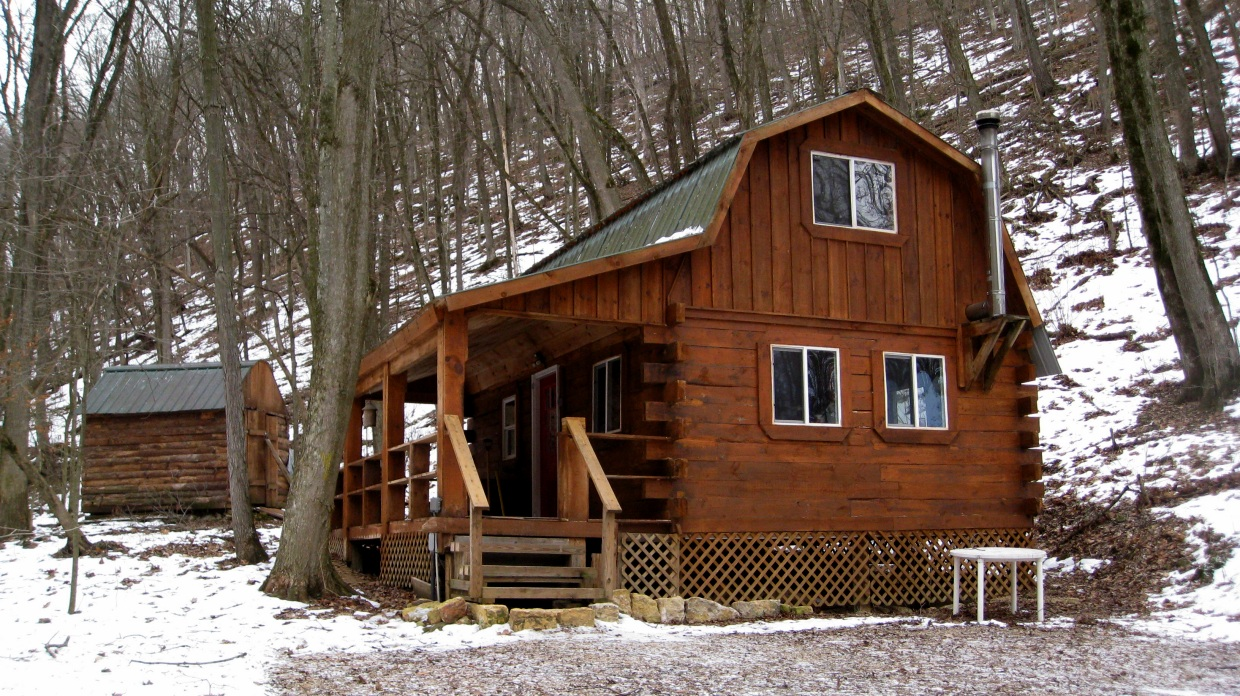 Log cabin in the woods winter - Rustic Log Cabin In The Big Woods 5 9 Acres 89 900