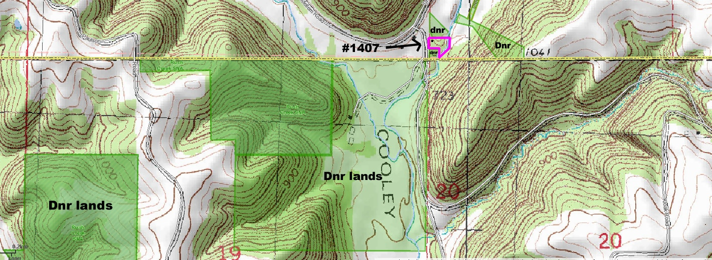 Property From Rush Creek Realty - Dnr topo maps